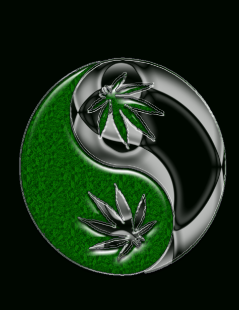 Ying and Yang! Peace to All! Image gallery courtesy of Cannablogna.com
