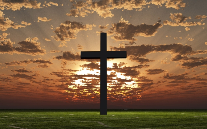 I find the clouds, sky and vivid colors of nature so beautiful. The cross, to me, seems like a symbol of man's cruelty towards one and another throughout the centuries