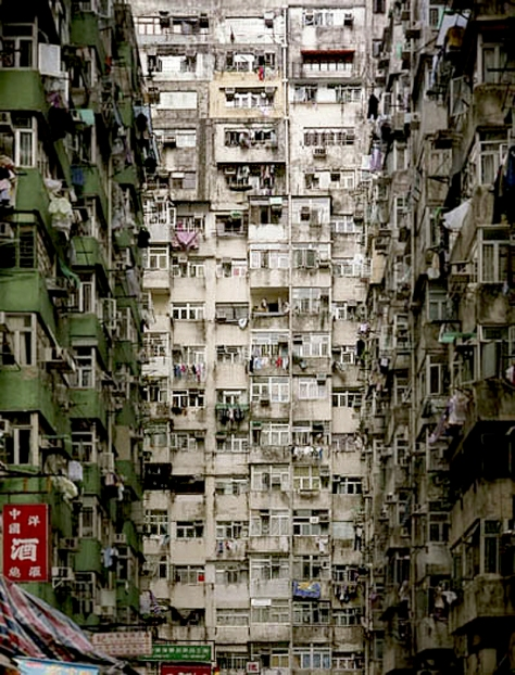 Space was very limited in Hashima. The island was only 15 acres total! Buildings went up instead of out. Most buildings averaged 9 stories tall!