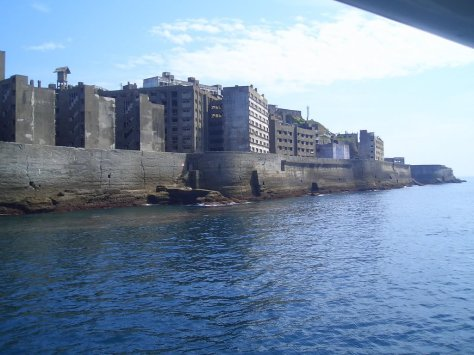 At its peak in 1959 the population on Hashima was 5,259 people, with a population density of 216,264 people per square mile. For comparison, 2011 Hong Kong has a population density of about 17,000 people per square mile.