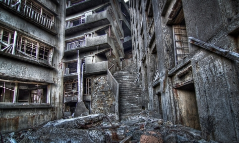 Hashima Stairwell to Hell from Google Images