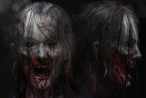 Horrific ZombiU Art original at google images