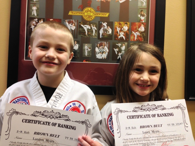 Landon and Laney Brown Belts 030