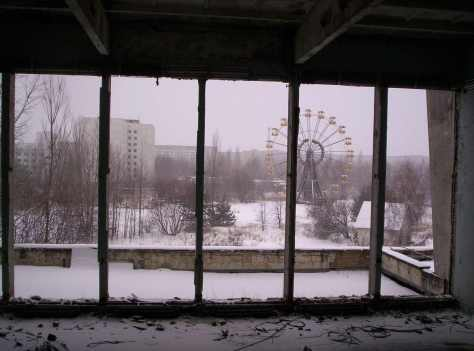 The gloomy view of a forsaken amusement park, void of all humanity.