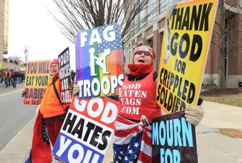 Westboro Baptist Church, Topeka, Kansas! It seems as though the Kansas House Republicans are on the same side as Fred Phelps!