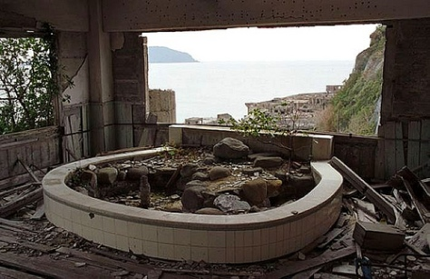 Window View from Hashima Island Apartment Complex image courtesy of google images