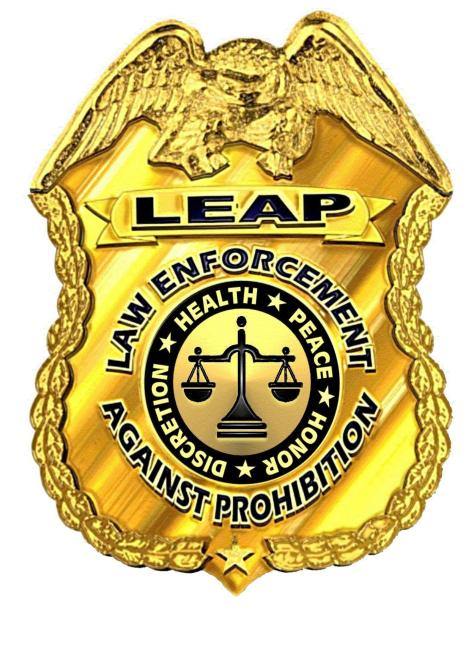 LEAP Badge Law Enforcement Against Prohibition Image Courtesy of www.guidestar.org