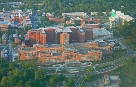 NIH Clinical Center more than 3 million square feet large. image courtesy of Google Images.