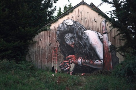 Bizarre Street Art. Image from www.weird.com via Google Images.
